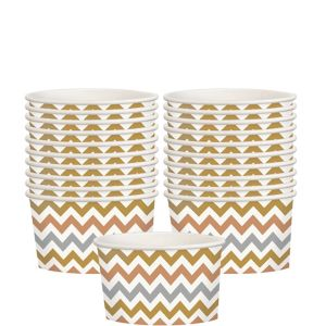 Metallic Chevron Paper Treat Cups 20ct