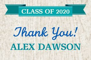 Custom Wood Graduation Thank You Note
