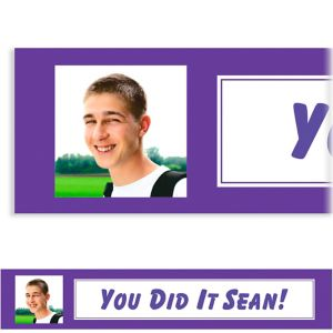 Custom Classic Purple Graduation Photo Banner