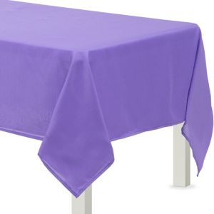 Purple Fabric Tablecloth