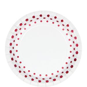 Ruby Dots Dessert Plates 8ct