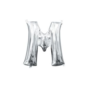 Air-Filled Silver Letter M Balloon
