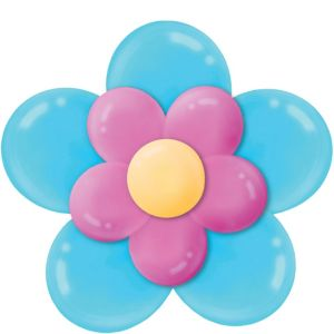 Bright Pink & Caribbean Blue Balloon Flower Kit