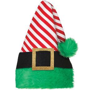 Red Striped Elf Hat