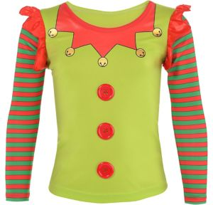 Girls Elf Long-Sleeve Shirt