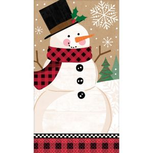 Winter Wonder Snowman Guest Towels 16ct