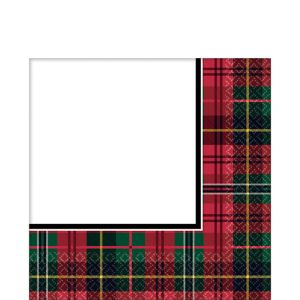 Holiday Plaid Lunch Napkins 125ct
