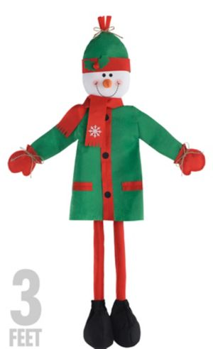 Friendly Standing Snowman Decoration