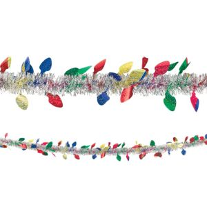 Christmas Light Tinsel Garland