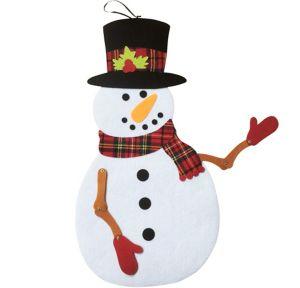 Jointed Felt Snowman