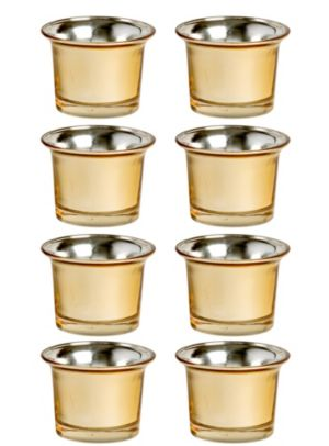 Gold Oyster Tealight Candle Holders 8ct