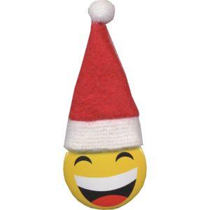 Smiley Santa Hat Button