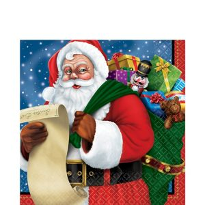 Classic Santa Lunch Napkins 125ct