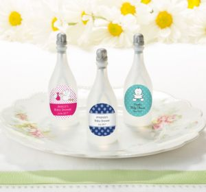 Personalized Baby Bubbles (Printed Label) (Baby Blue, Owl)