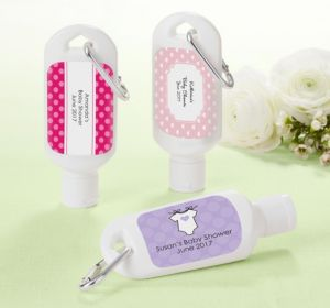 Personalized Baby Shower Sunscreen Favors (Printed Label) (Lavender, Stripes)