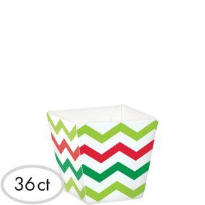 Mini Chevron Christmas Cubed Bowls 36ct