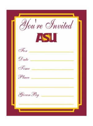 Arizona State Sun Devils Invitations 8ct