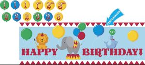Giant Carnival Birthday Banner Kit