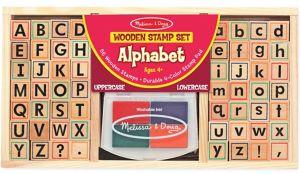 Wooden Alphabet Stamp Set 57pc