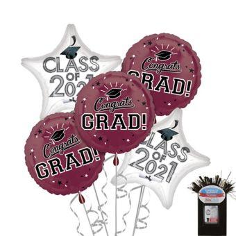 Berry Graduation Balloon Kit