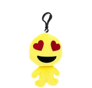 Clip-On Heart Eyes Smiley Plush