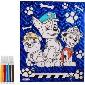 Prismatic PAW Patrol Coloring Sheet with Markers