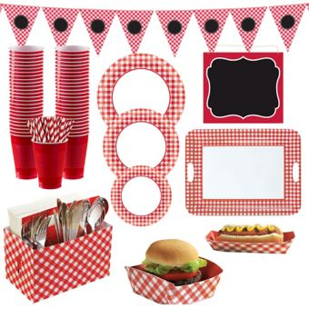 Gingham BBQ Party Kit