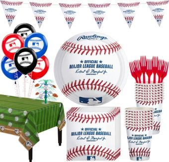 Rawlings Baseball Deluxe Party Kit for 16 Guests