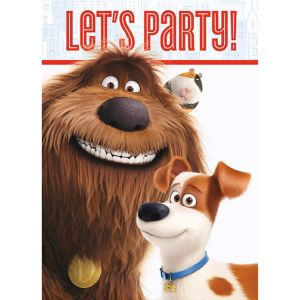 The Secret Life of Pets Invitations 8ct