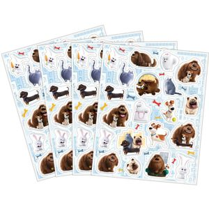 The Secret Life of Pets Stickers 4 Sheets