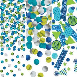 Blue & Green Birthday Confetti