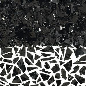 Black Sparkle Confetti