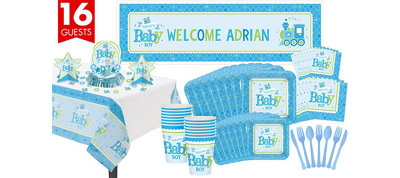 Boy Welcome Baby Party Kit Welcome Little One 16 guests