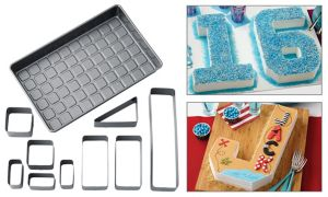 Wilton Custom Numbers & Letters Non-Stick Cake Pan Set 10pc
