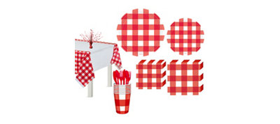 American Summer Red Gingham Deluxe Party Kit