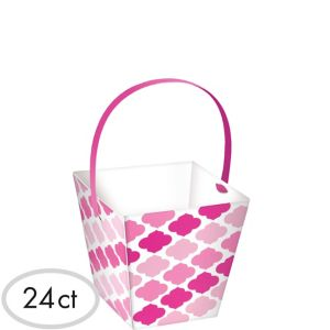 Pink Moroccan Cubed Bowls with Handles 24ct