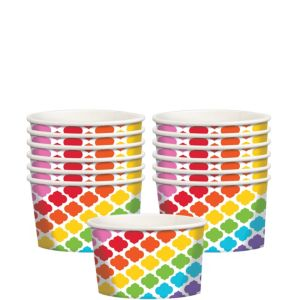 Bright Rainbow Moroccan Treat Cups 12ct