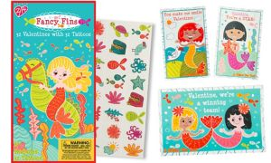 Fancy Fins Valentine Exchange Cards with Tattoos 32ct