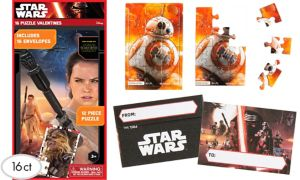 BB-8 Valentine Exchange Card Puzzles 16ct - Star Wars 7 The Force Awakens