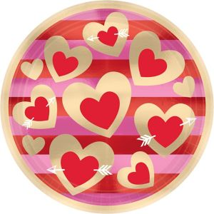 Heart of Gold Valentine's Day Lunch Plates 8ct