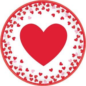 Confetti Hearts Valentine's Day Lunch Plates 8ct