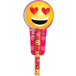 Smiley Valentine's Day Pen with Notepad