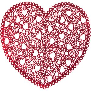 Metallic Heart Valentine's Day Placemat