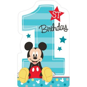 1st Birthday Mickey Mouse Invitations 8ct - Party City