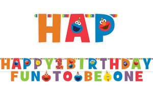 1st Birthday Elmo Letter Banner Kit 2pc
