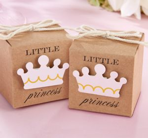 Kraft Little Princess Favor Boxes 24ct