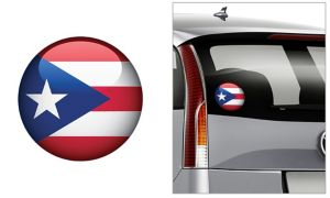 Puerto Rican Flag Decal