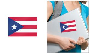 Puerto Rican Flag Cling Decal