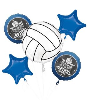 Volleyball Balloon Bouquet 5pc