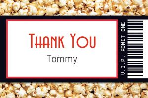 Custom Movie Ticket Thank You Note